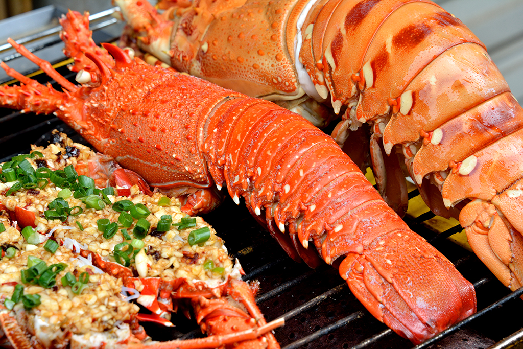 Long Island waterfront catering lobster dish